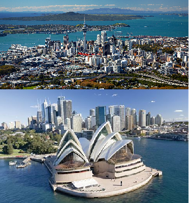 From Auckland to Sydney
