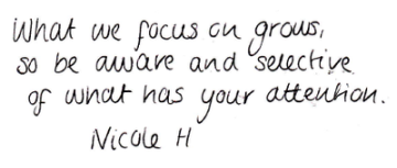 What you focus on grows